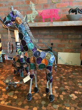 Our Nespresso coffee cups are recycled by a local artist in Woodstock